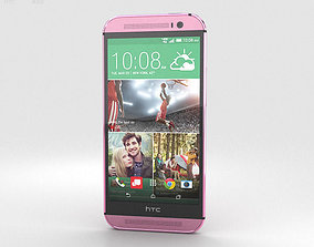 HTC One M8 Pink 3D model