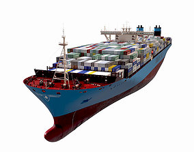 Maersk Triple E 1st generation Containers 399m 3D
