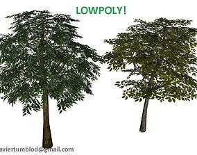 Lowpoly Trees 3D asset