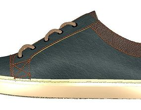 boot footwear shoe canvash snekears 3D printable model 4