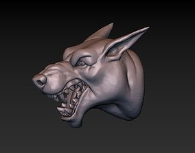 3D printable model print Dog head
