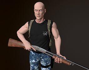 3D asset Survivor Man