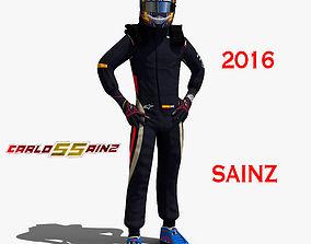 3D model Carlos Sainz 2016