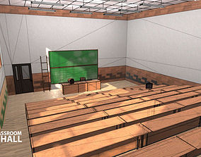 3D asset University Classroom - lecture hall