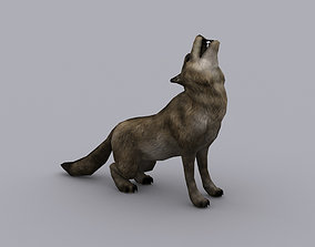animated WOLF GAME READY ANIMATED MODEL