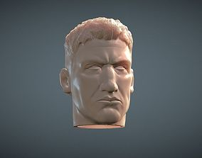 Punisher inspirited Figure Head 3D print model