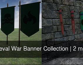 Medieval War Banner Collection 3D model