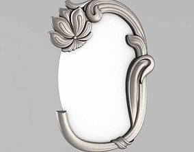 Frame mirror with flower 3D printable model