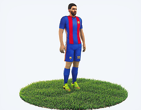 3D asset Lionel Messi football Player game ready character