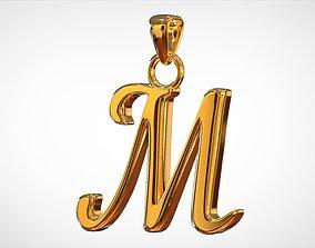Nautilus Pompilius Font M Pendant 3D printable model