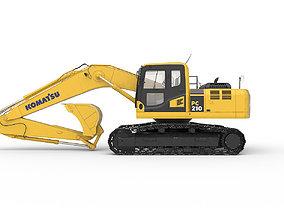 3D model Excavator Komatsu PC 210