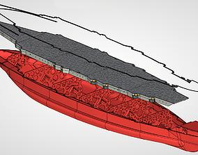 Sevastopol battleship hull 3D print model