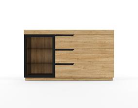 3D model Dresser Sideboard