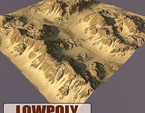 background Lowpoly Mountain 3D model game-ready
