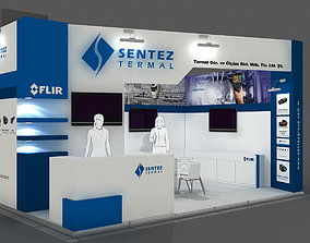 Exhibition Stand - ST0060 3D