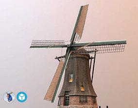 Holland WindMill 3D asset