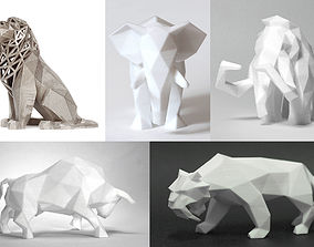 Low Poly Animals Collection 3D print model