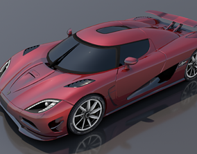 Koenigsegg Agera 3D asset VR / AR ready