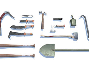 Survival Kit Tools Weapons and Equipment 3D model