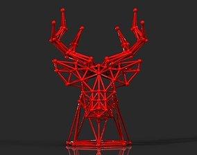 DEER HEAD ROD 3D printable model