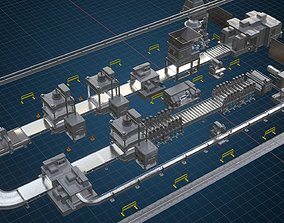 3D model Factory equipment