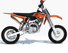 3D model Orange KTM Motocross Bike