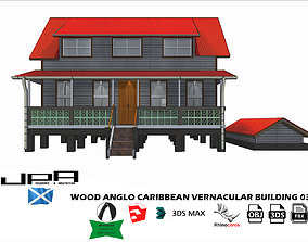 3D model Wood Anglo Caribbean Vernacular Building 03