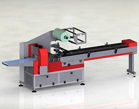 3D model Flow pack packaging machine