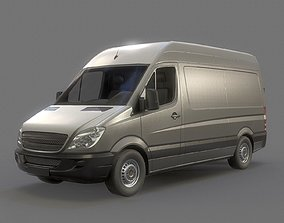 3D asset Delivery Van Low Poly