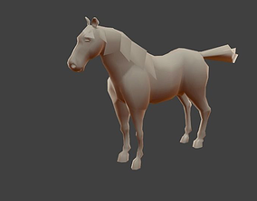 Low poly horse model low-poly