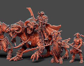 Chaos Horde - 5 miniatures 35 mm scale 3D print model