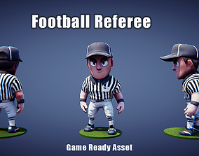 Low poly American Football Referee 3D model