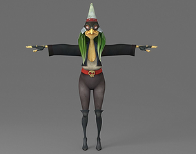3D model Cartoon witch game