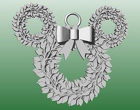 3D printable model Mickey Christmas Ornament