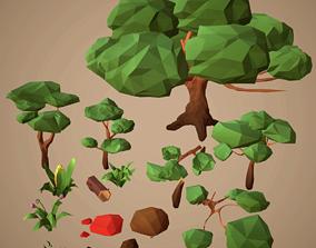 3D asset LowPoly NaturePack