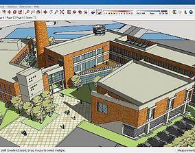 3D model Sketchup Cultural center E5
