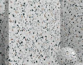 Materials seamless - coating stone terrazzo 3D