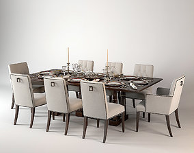 Baker Modern Dining Set 3D model