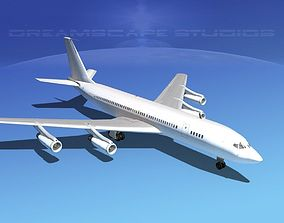 Boeing 707 Unmarked 3 3D
