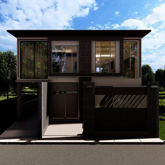Modern Minimalist House_SGH02M by GesangPJ