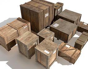 Transport crates Pack2 PBR 3D model