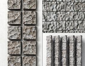3D model Panel rock stone