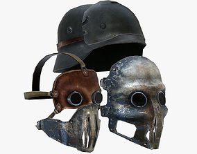 Nazi Mask and Helmet 3D model
