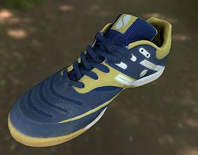 game-ready Sport shoe low poly 3D model