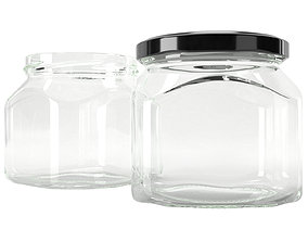 lid jar glass type4 3D model