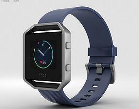 3D model Fitbit Blaze Blue-Silver