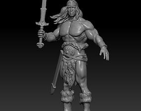 Conan Remix fighter 3D print model