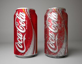 Coca Cola Coke Can 3D asset