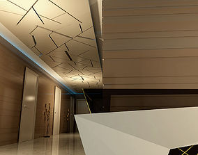 3D Modern commercial reception space