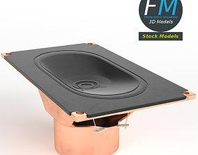 Rectangular speaker 3D model